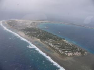 クワジェリン島(米軍基地が設置され、ミサイル実験が実施されており、米軍関係者が居住。マーシャル人の居住は許可されていない。)