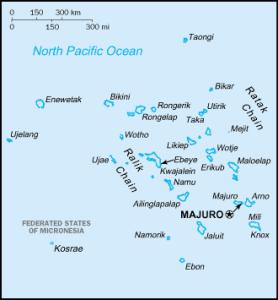 マーシャル諸島地図(RMI15カ年計画報告書より抜粋)